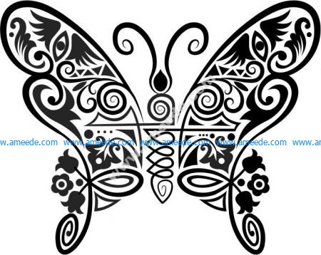Vector pattern beautiful butterfly