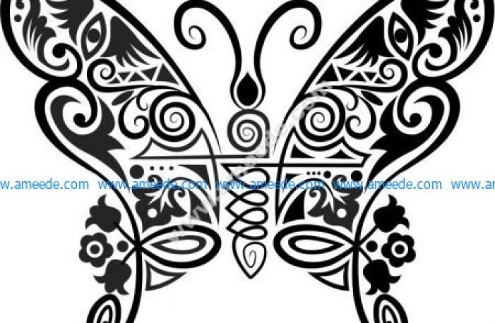 Vector pattern beautiful butterfly