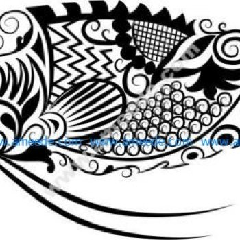 Vector pattern of perch fish