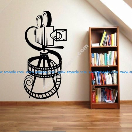 Vinyl Wall Sticker Removable Movie Camera Film