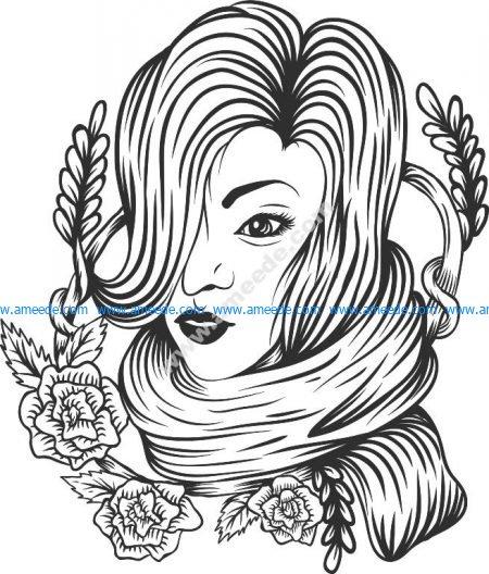 Woman Flower Decor