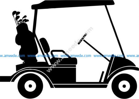 the car carrying golf tools