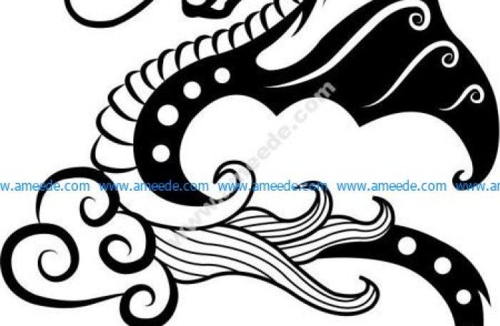 vector little dragon pattern
