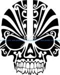 vector pattern skull mask