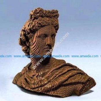 Apollo Bust – laser cut sculpture