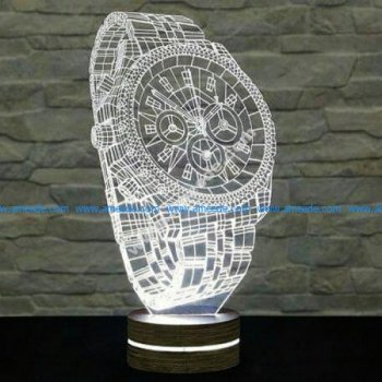 3d clock shaped led lights