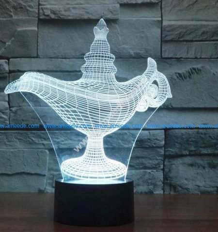 3d illusion lamp led Alaaddin