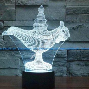 3d illusion lamp led Alaaddin