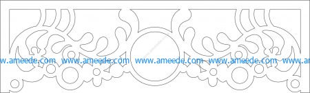 Arabic curtain pattern