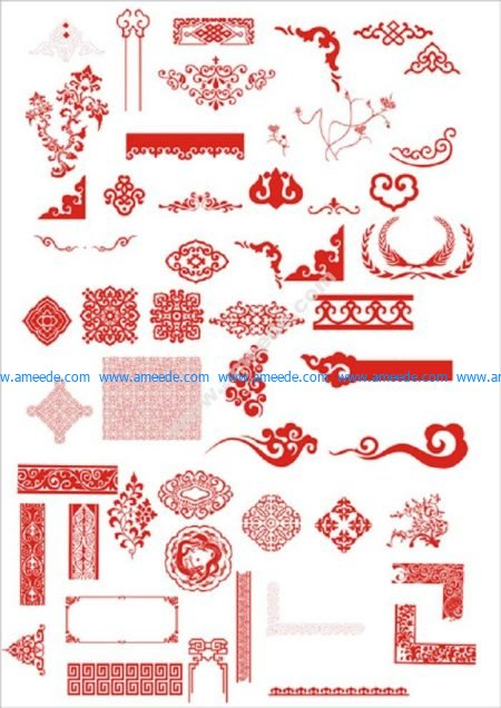 Chinese Flower Vector
