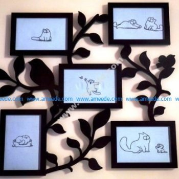 Cut Family Frame Template