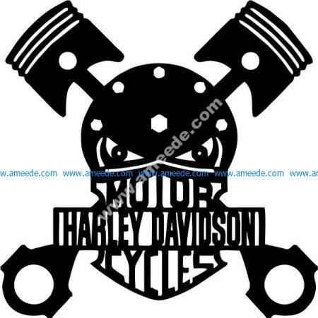Dangerous big cylinder engine danger icon