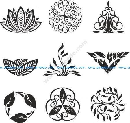 Floral Ornament Elements