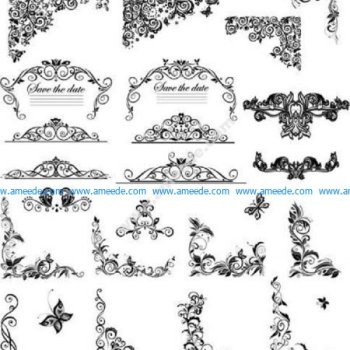 Floral Ornaments Borders And Corner