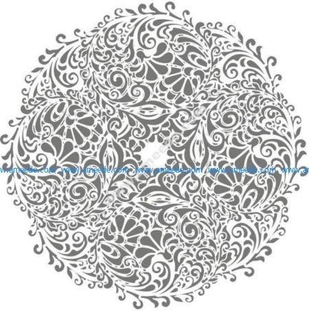 Floral Round Background