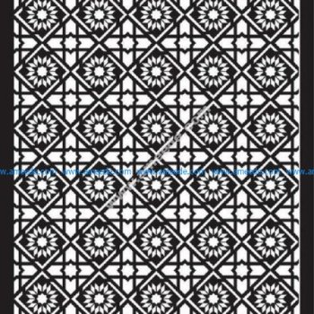 Floral Separator Pattern Template