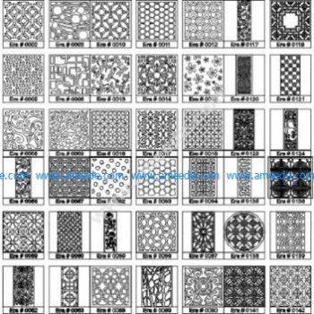Large collection of cnc cutting patterns