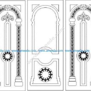 Modern Wooden Door Designs for CNC