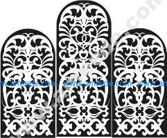 Pattern of window designs in the church