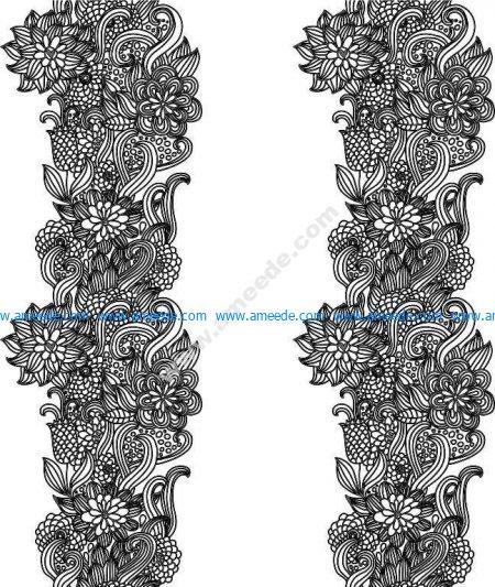Set Of Pretty Floral Ornaments Design