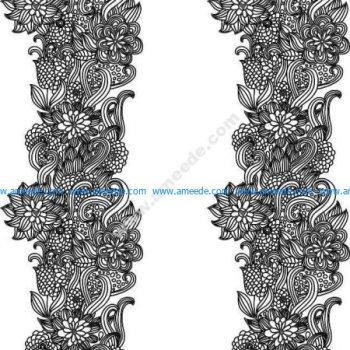Set Of Pretty Floral Ornaments Design