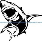Shark shaped icon