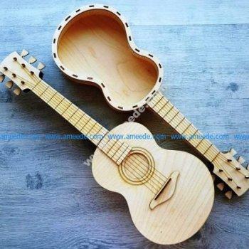 The guitar shaped box