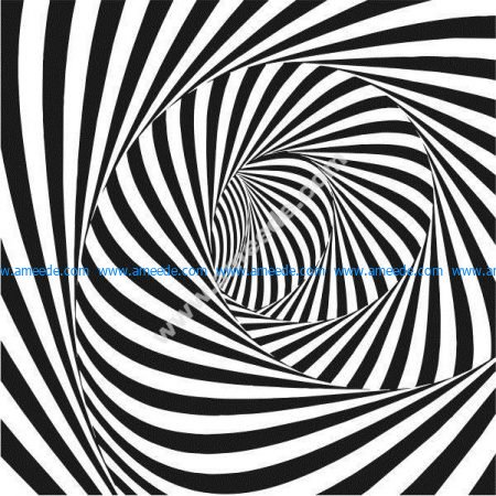 The picture causes spiral illusion