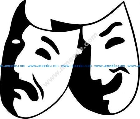 Theater icons, drama performances