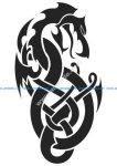 Tribal Gemini Tattoo Design