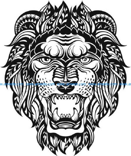 Lion Head Graphic