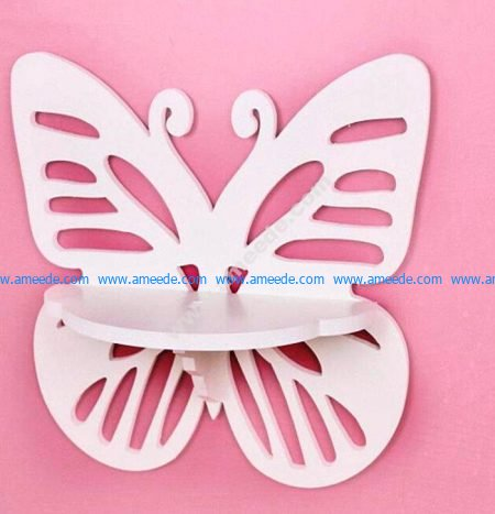 Wall Hanging Shelf Butterfly Rack Template