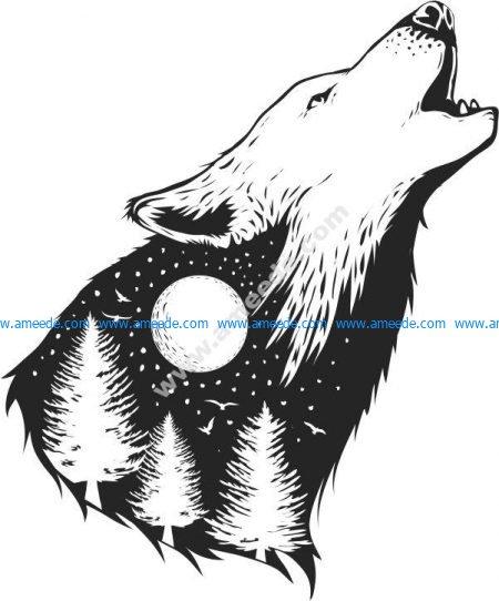 Wild Wolf Print