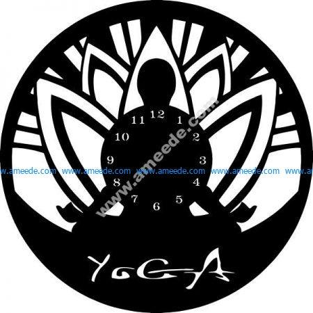 clock in yoga room