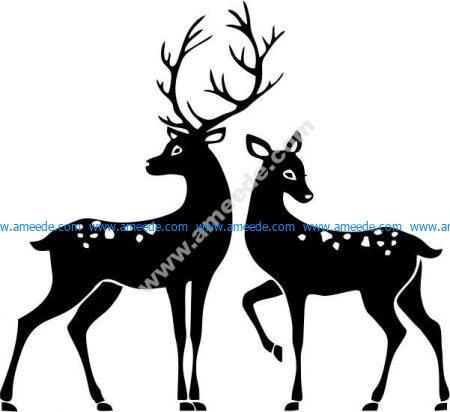couple of deer stars