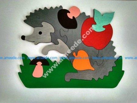porcupine puzzle pieces