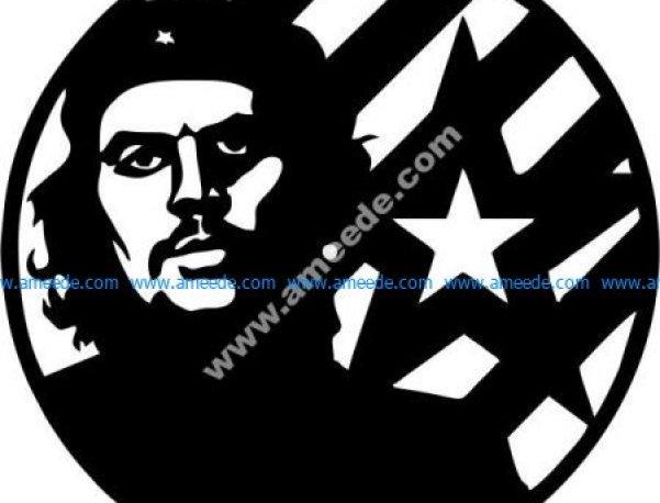 the clock symbolizes Cuba's hero