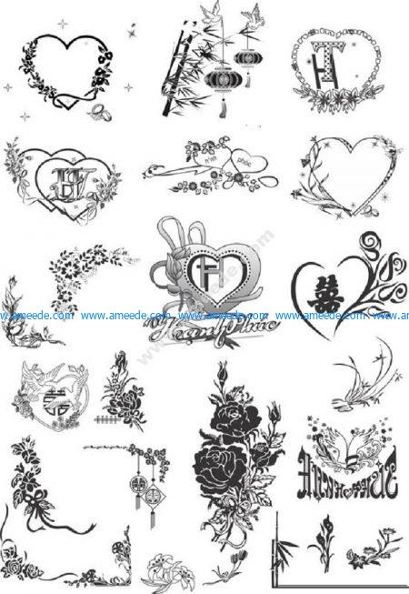 wedding card pattern