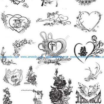 wedding card pattern