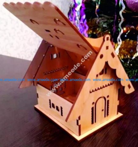 wooden box shaped house