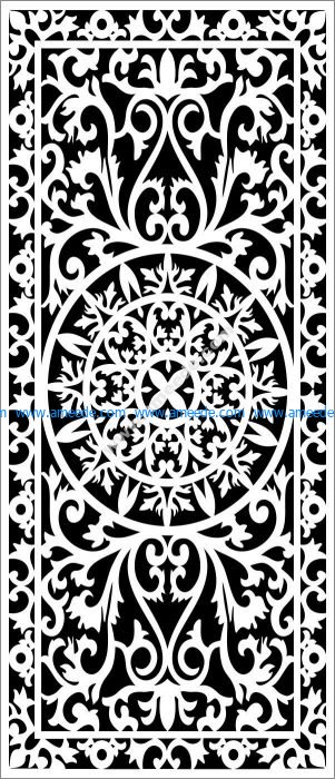 Arabic partition decoration pattern