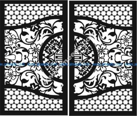 Chinese iron gate pattern