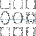 Decorative frame texture