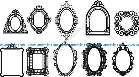 Decorative mirror motifs