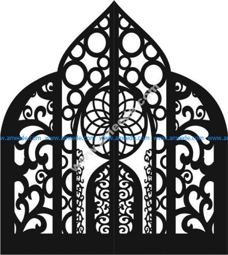 iron gate with arabic motifs