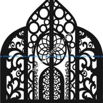 iron gate with arabic motifs
