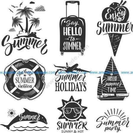 summer vector set