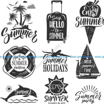 summer vector set