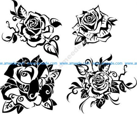 Beautiful rose vector