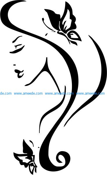 Face icon of woman